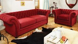London Chesterfield kanapé
